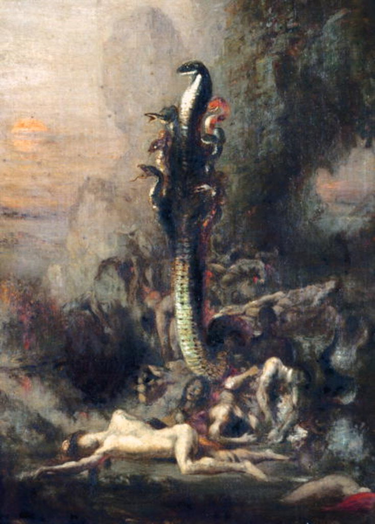 Detail of Hercules and the Lernaean Hydra, after Gustave Moreau by Narcisse Berchere