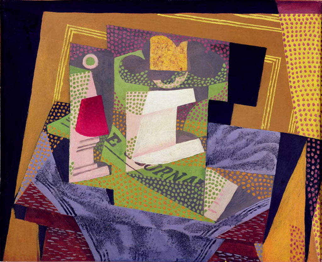 Detail of Composition on a Table by Juan Gris