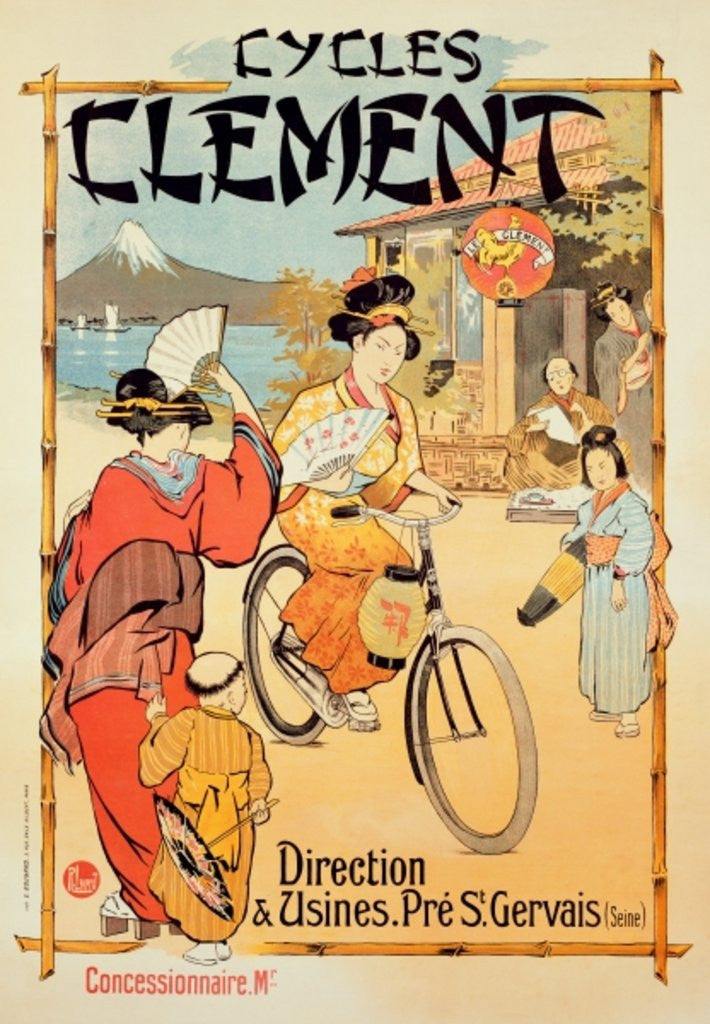 Detail of Poster advertising 'Cycles Clement', Pre Saint-Gervais by French School