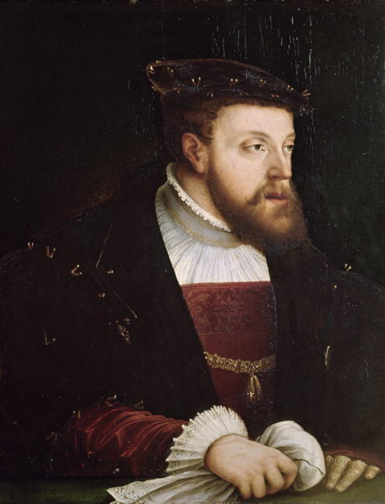 Detail of Portrait of Charles V by German School