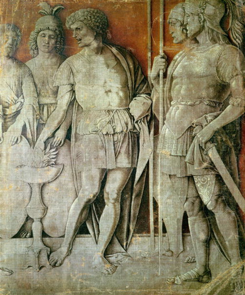 Detail of Mucius Scaevola by Andrea Mantegna