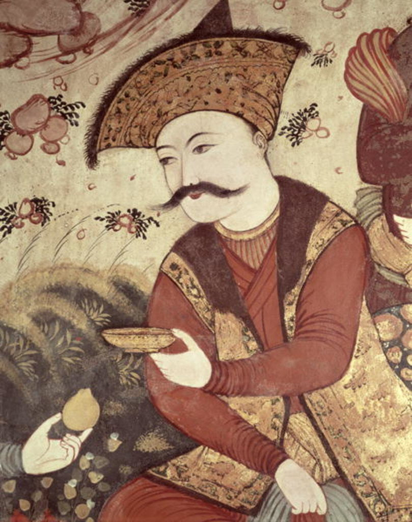 Detail of Shah Abbas I by Persian School