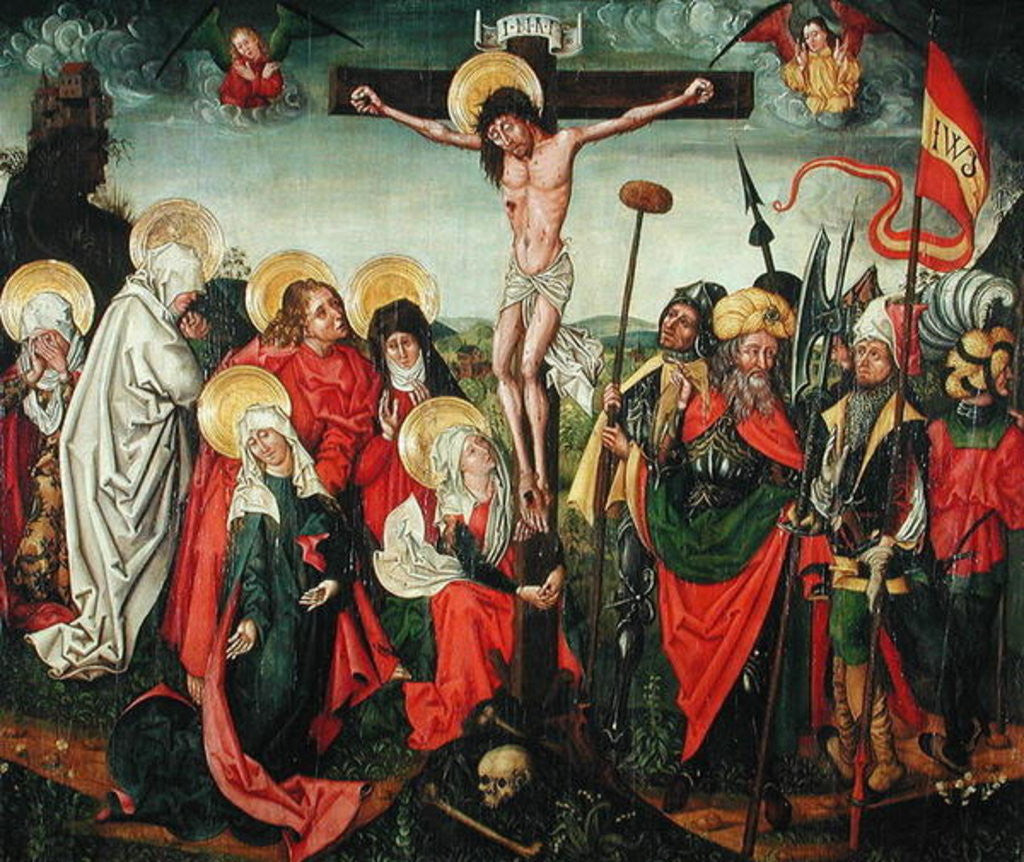 Detail of Crucifixion by Urbanus Huter