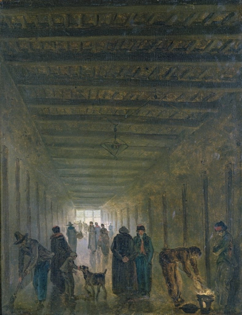 Detail of Corridor of the Saint-Lazare Prison in 1793 by Hubert Robert