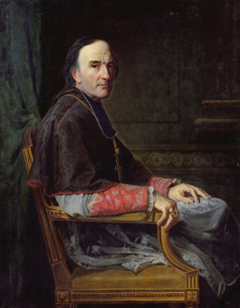 Detail of Georges Darboy Archbishop of Paris by Jean Louis Victor Viger du Vigneau