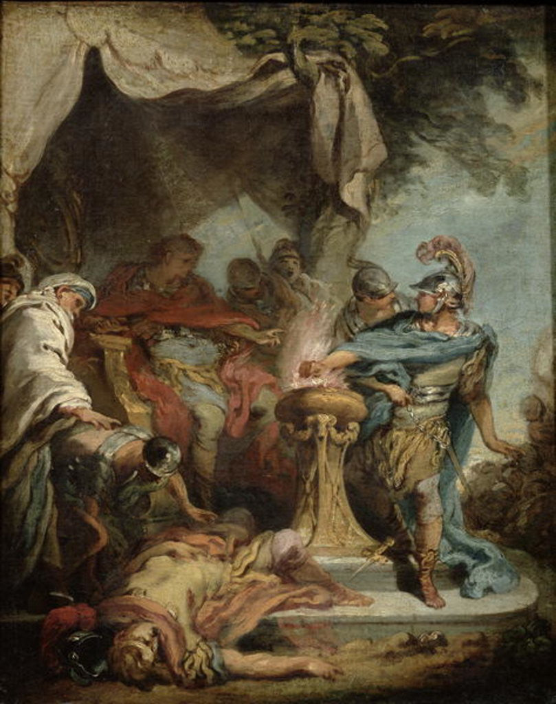 Detail of Mucius Scaevola before Porsenna by Francois Boucher