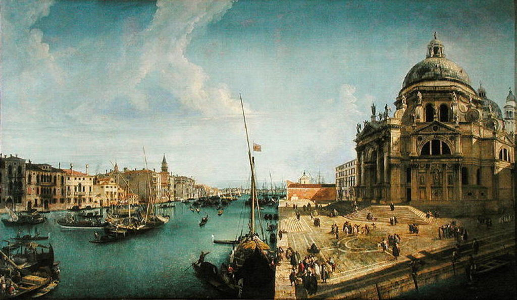 Detail of Entrance to the Grand Canal and Santa Maria della Salute, Venice by Michele Marieschi