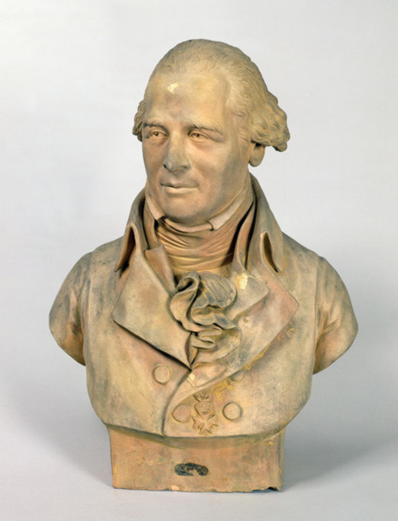 Detail of Bust of Louis-Pierre Deseine by Madeleine Anne Deseine