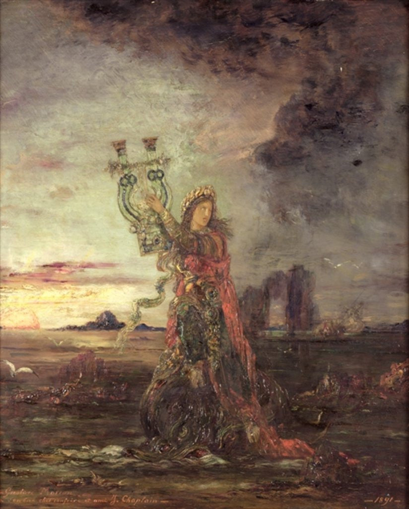 Detail of Arion by Gustave Moreau