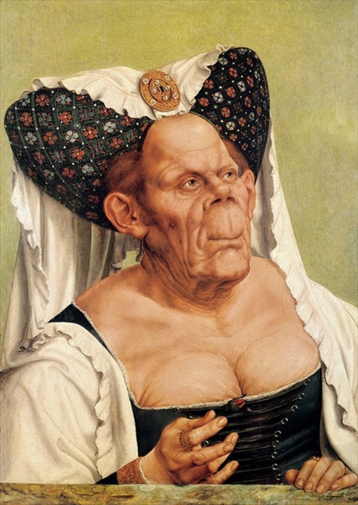 Detail of A Grotesque Old Woman, possibly Princess Margaret of Tyrol by Quentin Massys