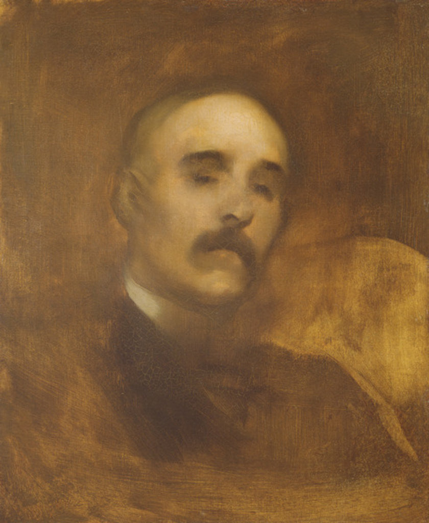Detail of Georges Clemenceau by Eugene Carriere