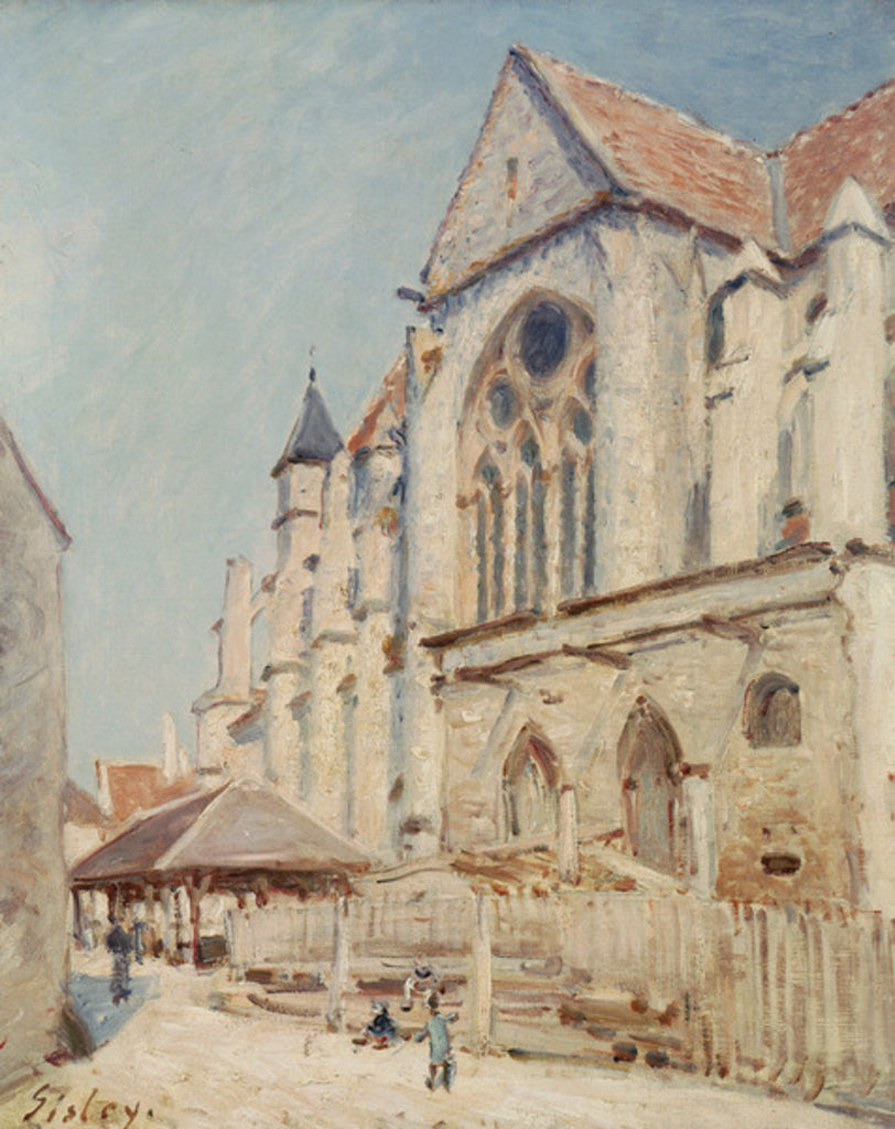 Detail of The Church at Moret by Alfred Sisley