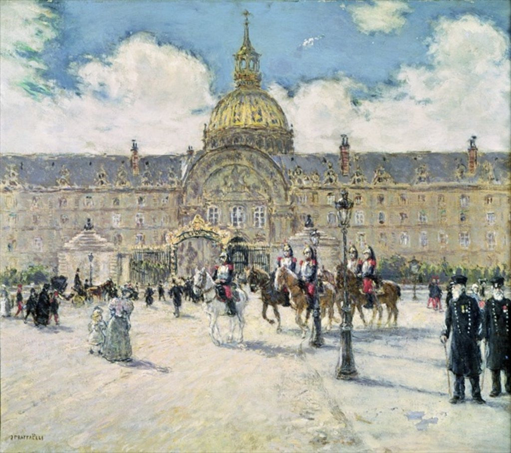 Detail of The Hotel des Invalides by Jean Francois Raffaelli