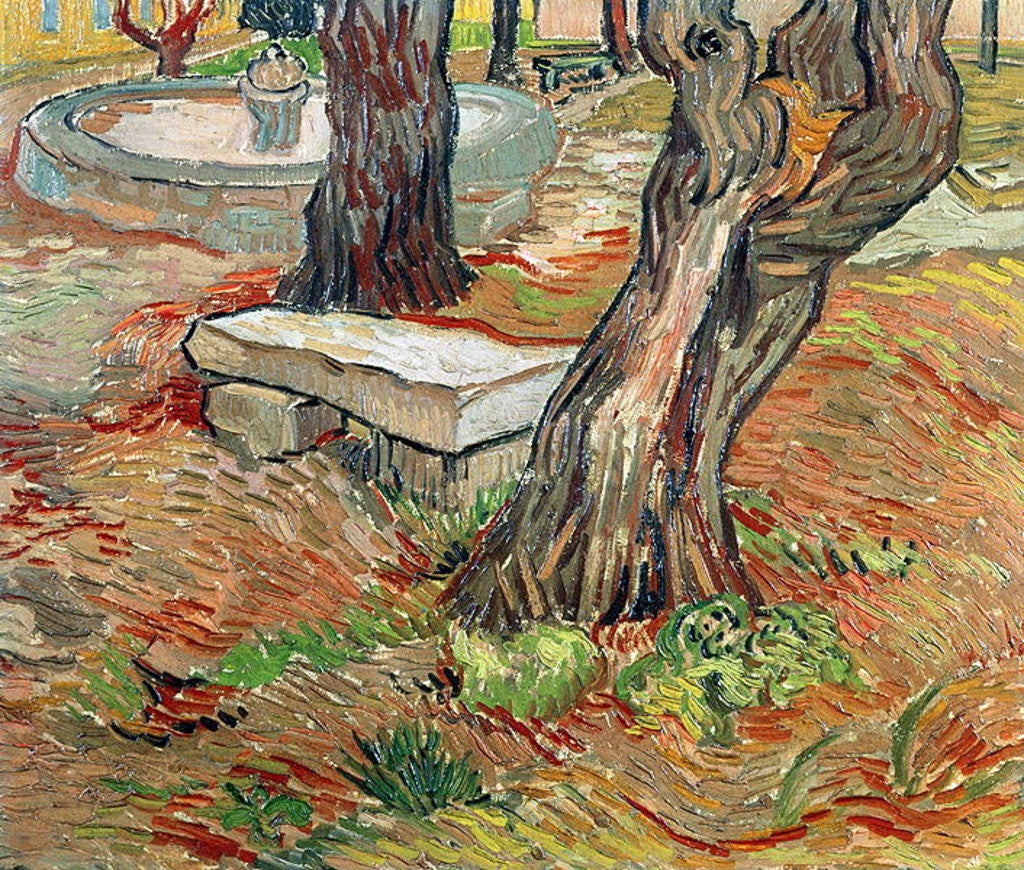 Detail of The Bench at Saint-Remy by Vincent van Gogh