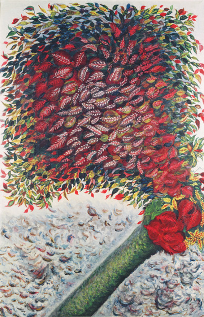 Detail of The Red Tree, 1928-30 by Seraphine Louis