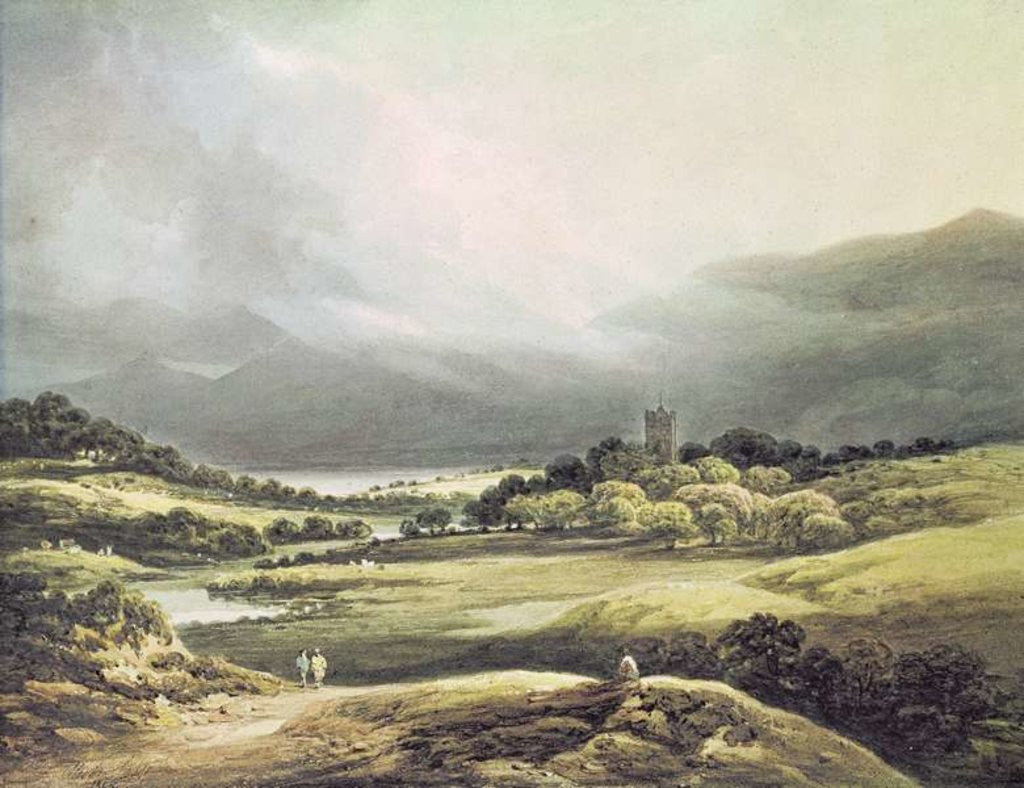 Detail of View of Dunloe Castle, Killarney by Richard Sasse