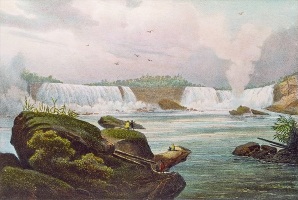 Detail of General View of Niagara Falls from the Canadian Side by Jacques Milbert