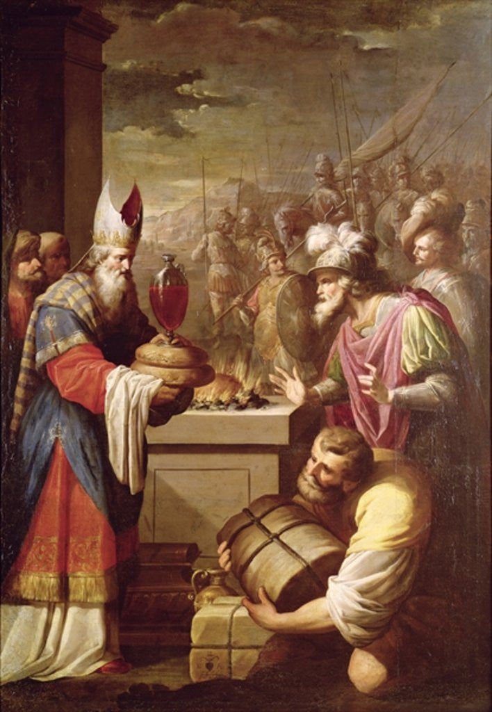 Detail of Melchizedek Offering Bread and Wine by French School
