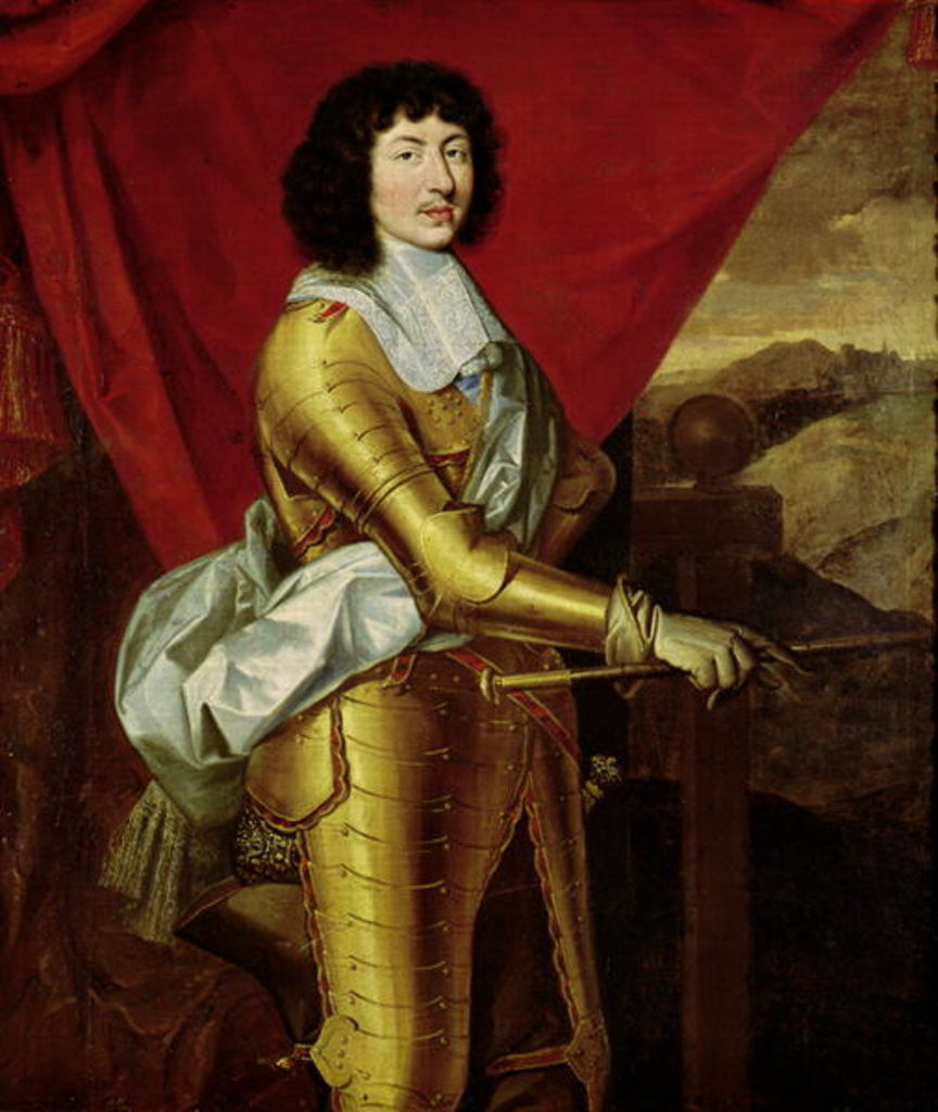 Detail of Louis XIV by Pierre Mignard