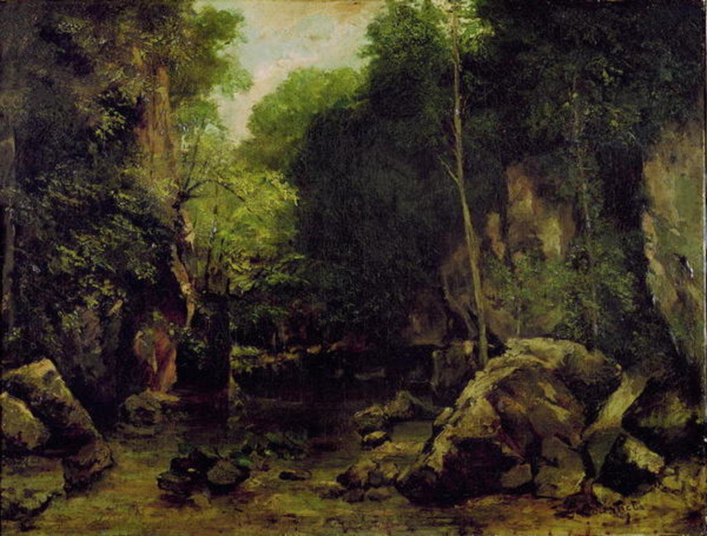 Detail of Le Puits-Noir, Doubs by Gustave Courbet