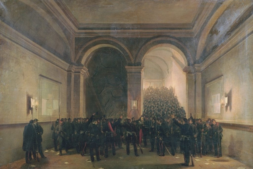 Detail of Entry of the 106th Battalion into the Paris Town Hall by Jules & Guiaud