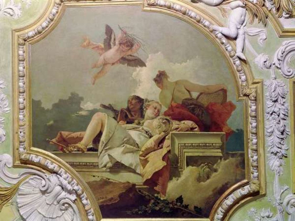 Detail of Humility, Indulgence and Truth by Giovanni Battista Tiepolo