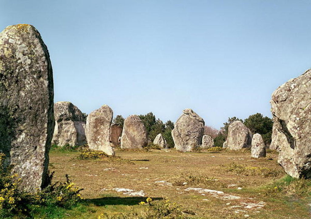 Detail of Alignment of standing stones, Megalithic Period by Prehistoric