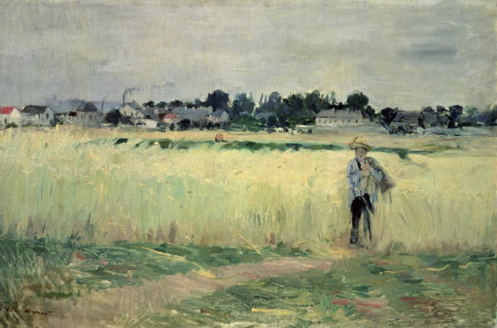 Detail of In the Wheatfield at Gennevilliers by Berthe Morisot