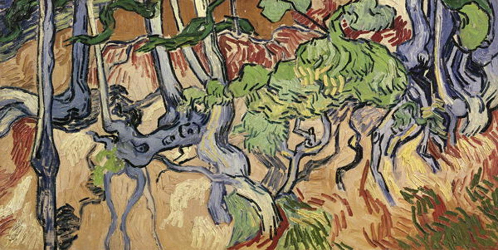 Detail of Tree roots by Vincent van Gogh