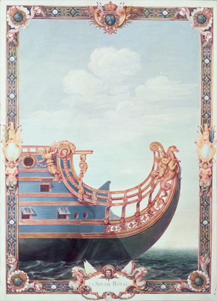 Detail of The Prow of 'Le Soleil Royal' by Jean I Berain