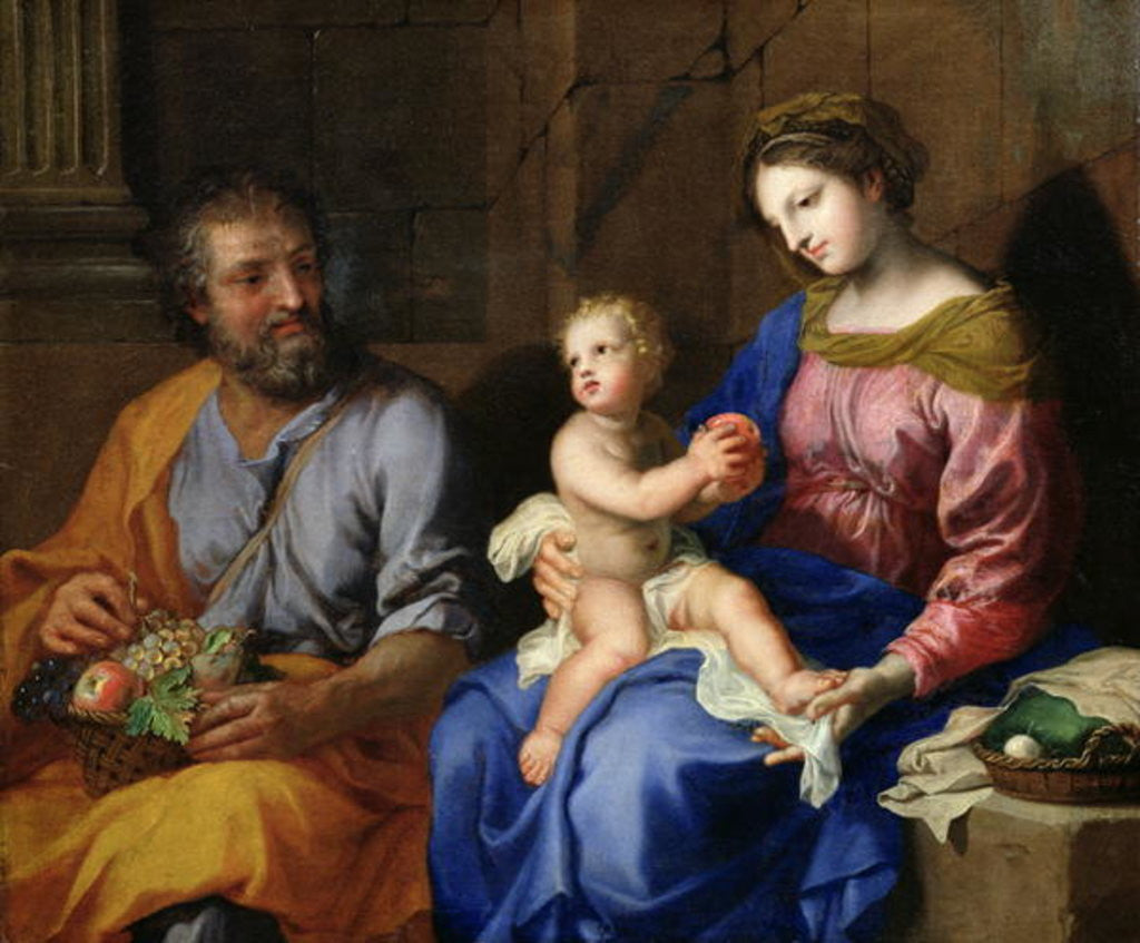 Detail of The Holy Family by Jacques Stella