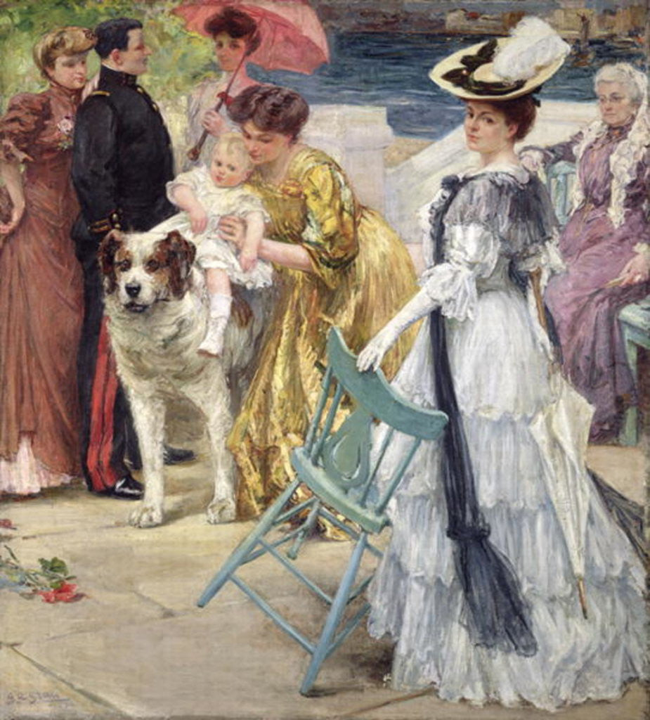 Detail of En Famille by Gustave Grau