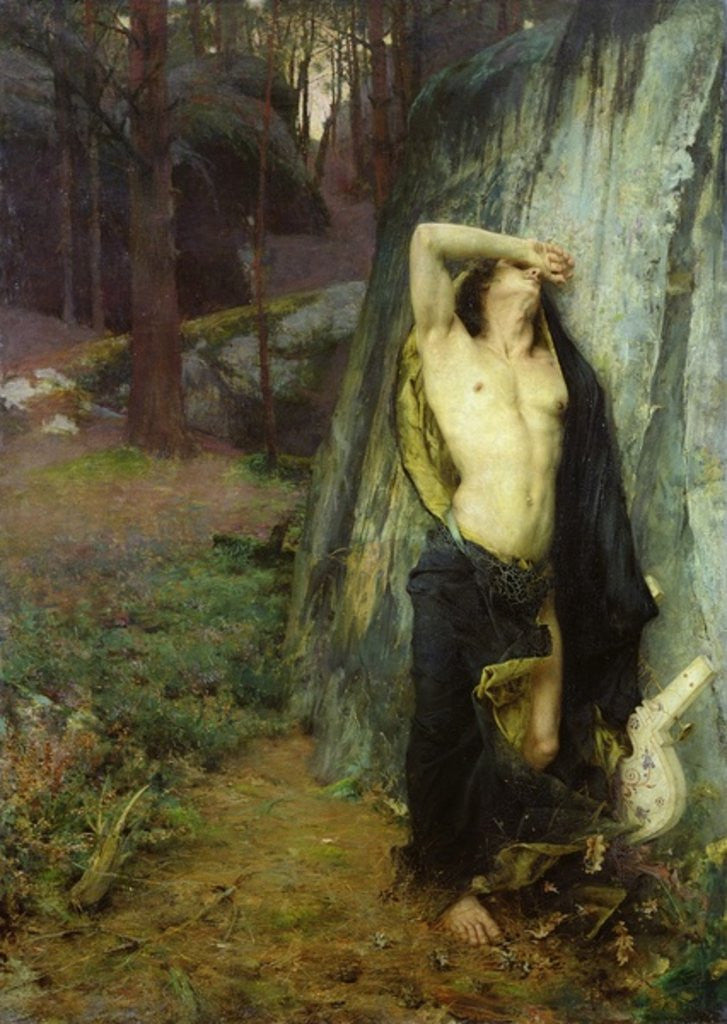Detail of Death of Orpheus by Pascal Adolphe Jean Dagnan-Bouveret