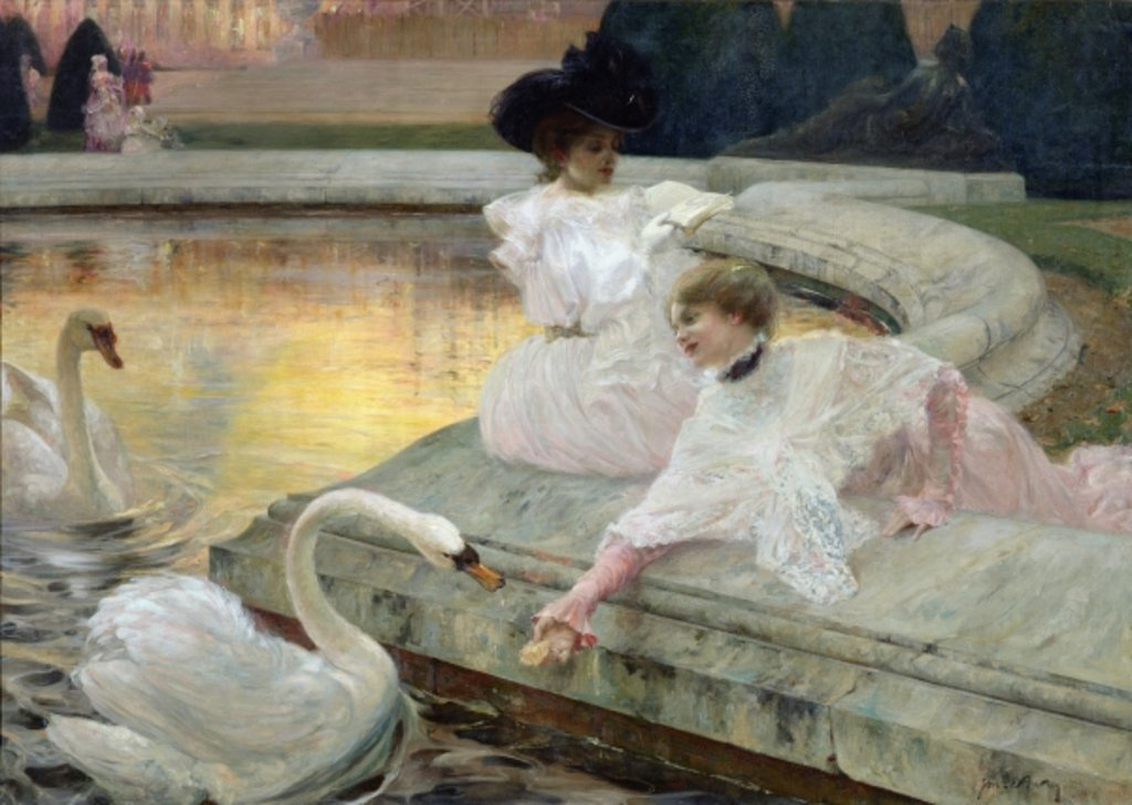 Detail of The Swans, 1900 by Joseph Marius Avy