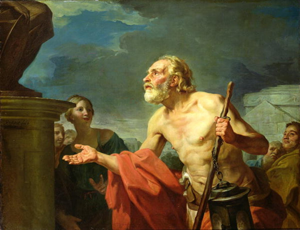 Detail of Diogenes Asking for Alms by Jean Bernard Restout
