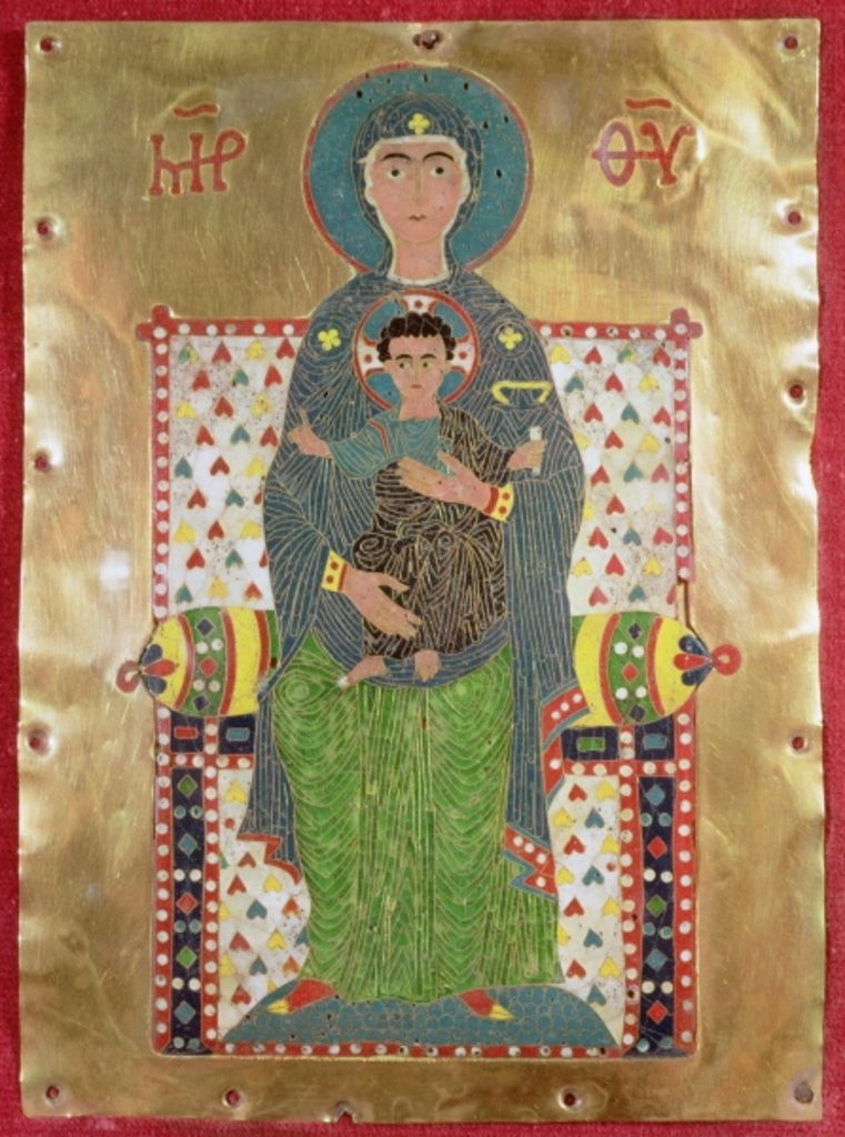 Detail of Virgin and Child Enthroned by Byzantine