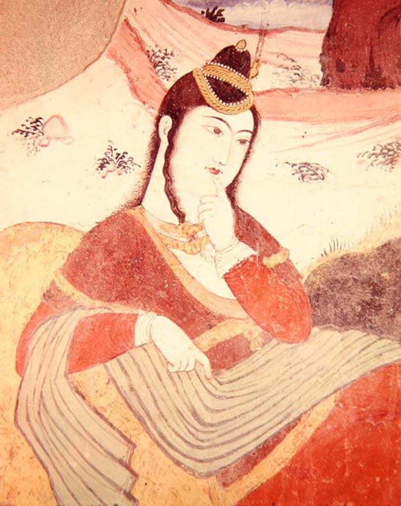 Detail of Woman from the Court of Shah Abbas I by Persian School