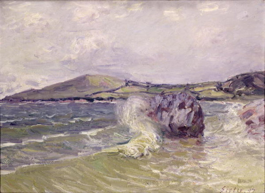 Detail of Lady's Cove, Wales by Alfred Sisley