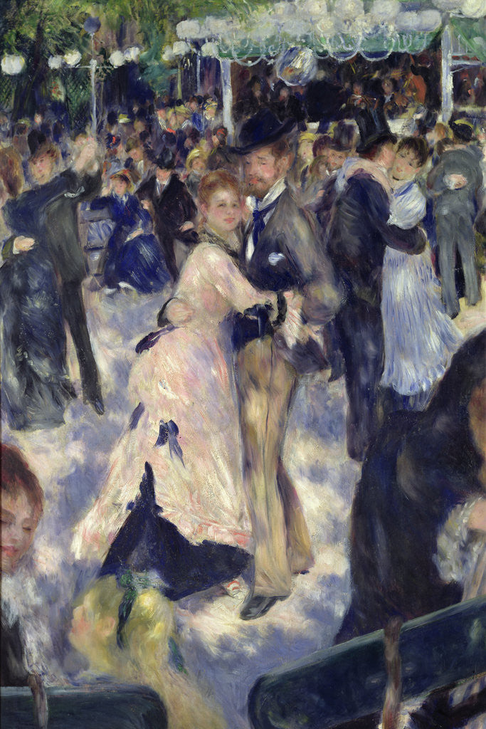 Detail of Le Moulin de la Galette, detail of the dancers by Pierre Auguste Renoir