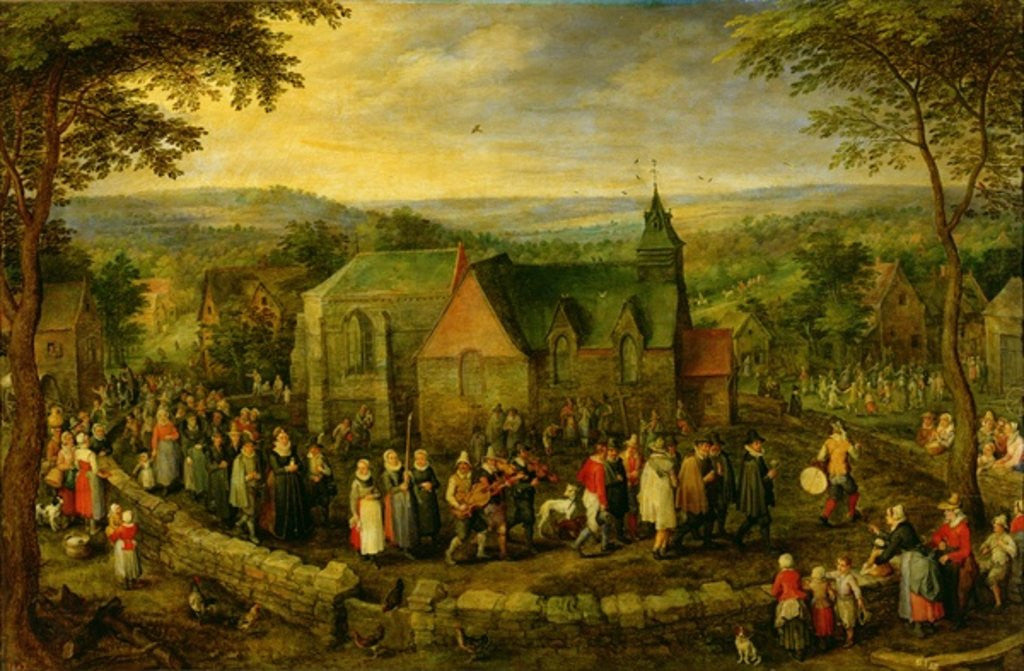 Detail of Country Life with a Wedding Scene by Jan the Elder Brueghel