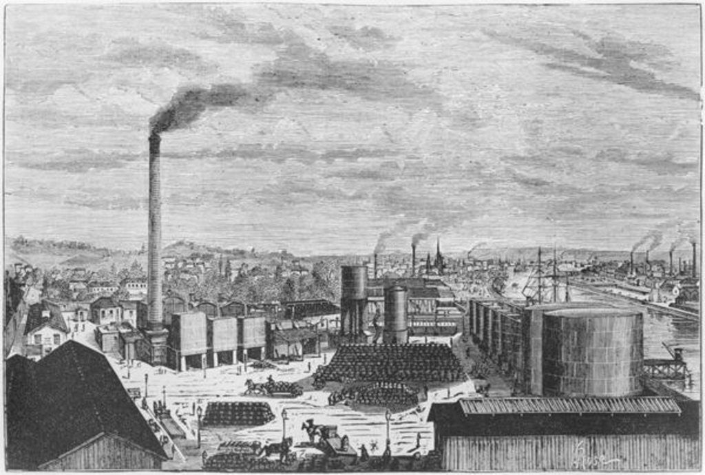Detail of Deutsch Company, the factory at Rouen by Laurent Victor Rose