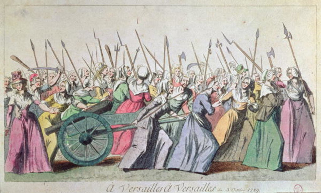 Detail of 'A Versailles, A Versailles' March of the Women on Versailles, Paris by French School