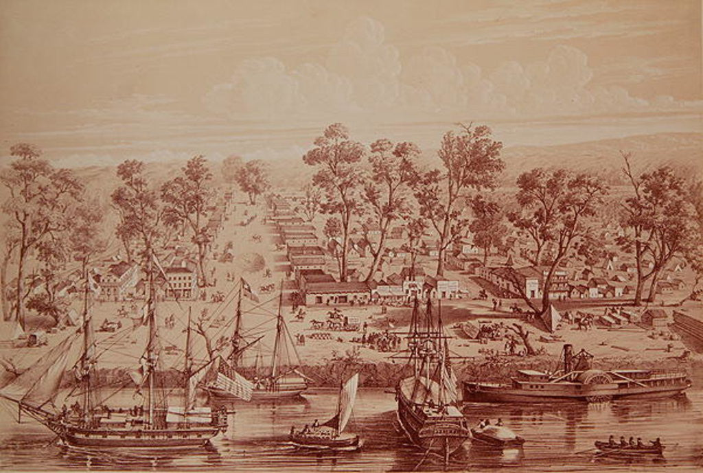 Detail of Town of Sacramento by French School