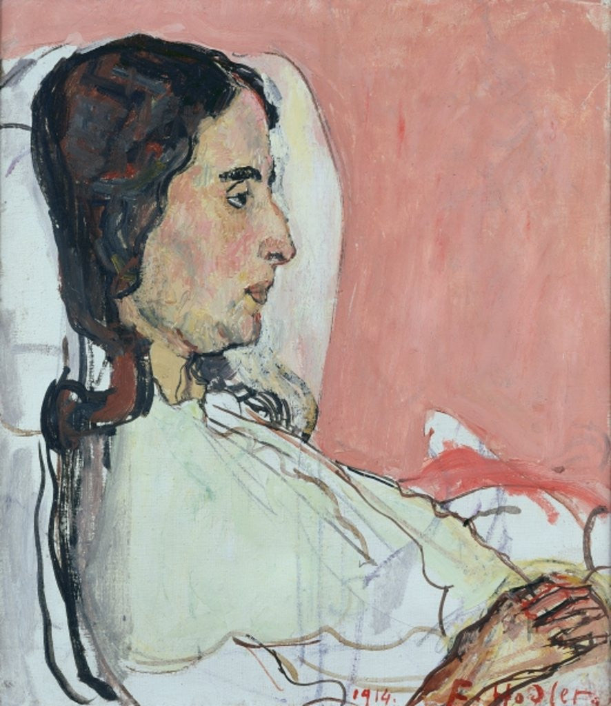 Detail of Madame Valentine Gode Darel, Ill by Ferdinand Hodler