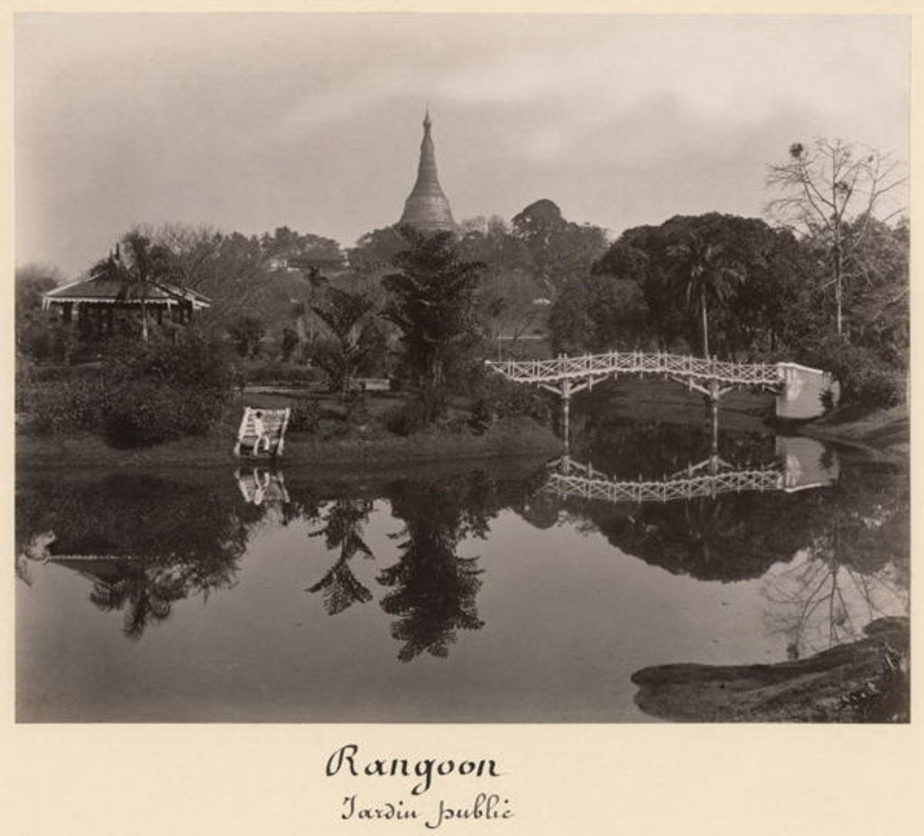 Detail of Island pavilion in the Cantanement Garden, Rangoon, Burma, late 19th century by Philip Adolphe Klier