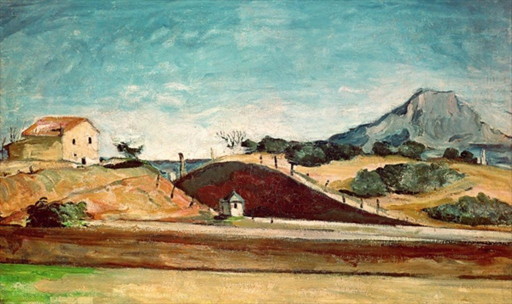 Detail of The Railway Cutting by Paul Cezanne