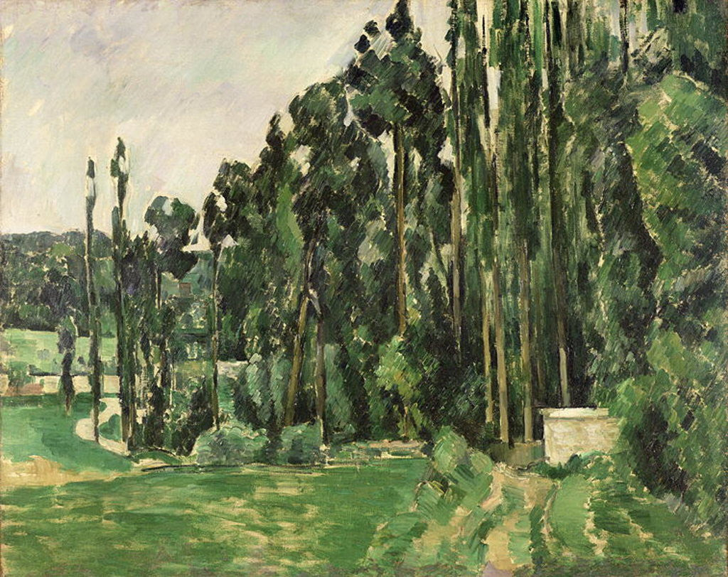 Detail of The Poplars by Paul Cezanne