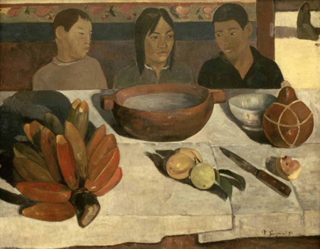 Detail of The Meal (The Bananas) by Paul Gauguin