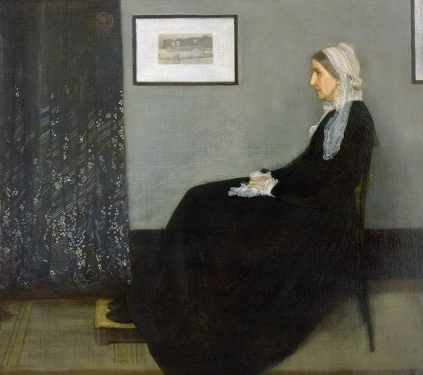 Detail of Arrangement in Grey and Black No.1, Portrait of the Artist's Mother by James Abbott McNeill Whistler