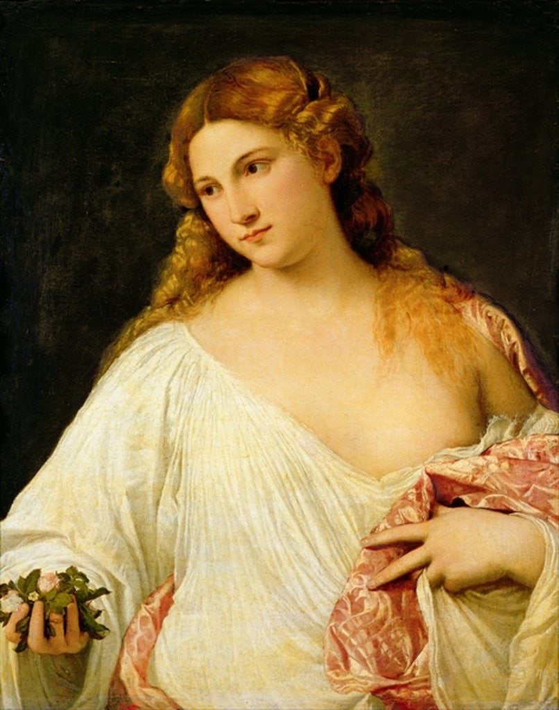 Detail of Flora by Titian